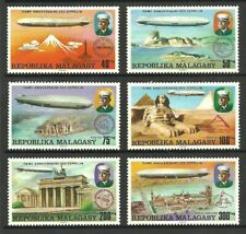 MALAGASY REPUBLIC 1976 AIRCRAFT AVIATION ZEPPELINS AIRCRAFT SET MNH
