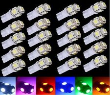 10Pcs Super White T10 Wedge 5-SMD 5050 LED Light bulbs W5W 2825 158 192 168 194