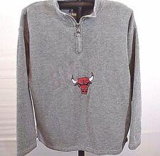 Chicago Bulls Pull-Over Fleece Ladies Jacket Gray Pro Player L
