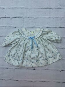 Toddler Kids Girls 3-6 Months Collared A-Line Holiday Smocked Floral Dress White