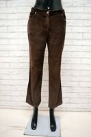 Pantalone CONTE OF FLORENCE Donna Taglia 42 Jeans Pants Woman Marrone Costine