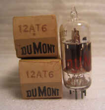 Lot Of 2 Du Mont Dumont 12AT6 Electronic Electron Vacuum Tube In Box NOS
