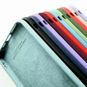 For iPhone 11 11 Pro 11 Pro Max 12 Liquide Silicone Phone Case Shockproof Cover