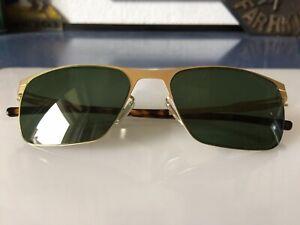 IC! BERLIN Julius sunglasses matt gold  lense green sold out Sample Sonnenbrille