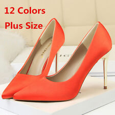 Women's Stiletto Pointed Toe Slip On High Heel Party Ladies Pumps Shoes US 6