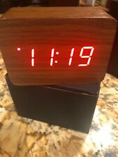 Modern Wooden Wood Digital Alarm Clock