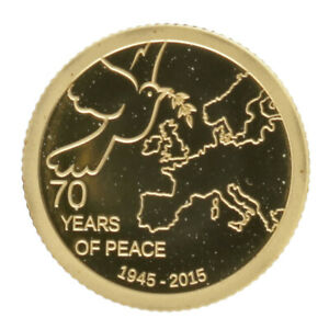 Cook Islands - Gold 1 Dollar Coin - ½ Gram - 'Peace in Europe' - 2015 - Proof