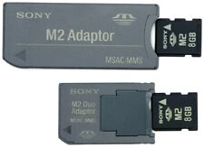 Genuine SONY 8GB M2 Memory Flash Card with MSAC-MMS Reader & Pro Duo Adapter