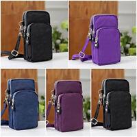 Men Cross-body Mobile Phone Shoulder Bag Pouch Belt Women Handbag Purse Wallet