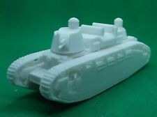 1/72 scale - French FCM Char 2C tank super-heavy tank, World War 2, 3D printed