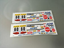 1/43 DECAL PEUGEOT 206 SUPER 1600 N°60 RALLY WRC MONTE CARLO 2002 MONTECARLO