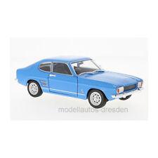 Welly 24069 Ford Capri I 1600 Gt XLR Bleu Échelle 1:24 Maquette de Voiture