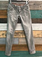 ROCK REVIVAL Womens CELINE SKINNY Low Rise Gray Wash Jeans Size 25