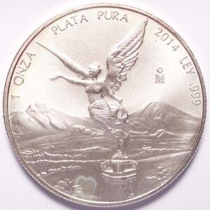 2014MO Mexico Plata Pura Silver 1 Onza Libertad