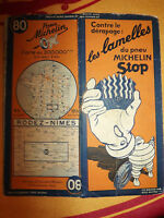 carte michelin 80 rodez nimes 1936