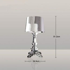 New Modern Contemporary CLEAR Transparent Chocolate Table lamp Desk Light Lamp