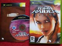 LARA CROFT TOMB RAIDER LEGEND ORIGINAL BLACK LABEL MICROSOFT XBOX 12+ PAL