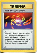 Pokemon Base Set Shadowless Rare Card #79/102 Super Energy Removal