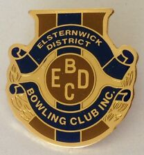 Elsternwick District Bowling Club Badge Rare Vintage (L8)