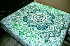 Ombre Bedspread Tapestry Queen Size 100% Cotton Indian Handmade Throw Flower Art