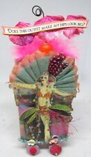 Whimsical Susie Scott Studios Handmade Collage Art Piece  Signed Dated 2010
