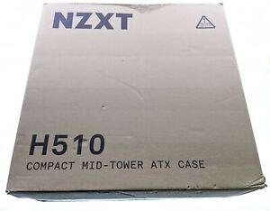NZXT - H510 Compact ATX Mid-Tower Case with Tempered Glass - Matte Black