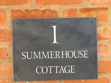 LARGE Premium Quality Smooth Slate House signs 400mm x 300mm ANY NAMENUMBER