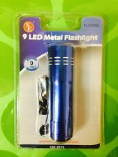 SE 9 LED Metal Flashlight Blue Aluminum NEW Camping Home   ~  Free Shipping!!