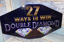 "Double Diamond Slot Machine Plexiglass Piece 16"" X 9.5"""