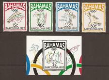 BAHAMAS 1992 SG939/942 + MS943 Olympic Games, Barcelona MM Cat £17+ (JB17030)