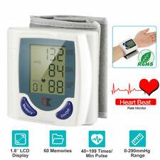 Automatic Wrist Blood Pressure Monitor Cuff Machine Sensor Heartbeat Tester US