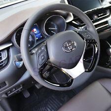For Toyota C-HR CHR 2018-2019 Car Steering Wheel Panel Garnish Trim Silver ABS