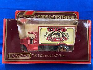 Matchbox Models of Yesteryear - 1920 model AC Mack - KIWI Boot Polish