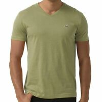 Lacoste Men's Premium Pima Cotton Sport V-Neck Shirt T-Shirt Silex Green