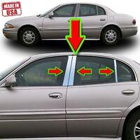 Chrome Pillar Trim for Buick Le Sabre (4dr) 00-05 6pc Set Door Cover Post