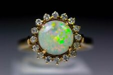 Fire Opals Yellow Gold Fine Gemstone Rings