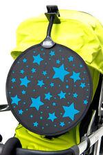 My Buggy Buddy Sun Shade Clip on Parasol Pram Shade STARS Design, Pink or Blue