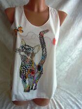 Bäres T-Shirt Gothic Hippie Nepal GATTO FARFALLA S (t43-1)