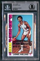 Lionel Hollins #119 signed autograph 1976-77 Topps Basketball Card BAS Slabbed