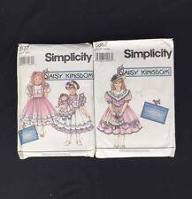 Simplicity 8867 8877 Girls Dress Pattern Daisy Kingdom Pinafore Costume 2-4 5-6X