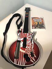 Nintendo Wii Guitar Hero Aerosmith Guitarra + ledgends de rock juego probado Funcionando