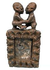 Art Africain Arts Premiers Ancien Miroir Divinatoire - Jumeaux Yoruba - 27 Cms