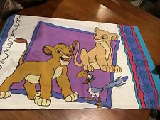 Vintage Disney's Lion King Standard Pillowcase W/Simba, Nala, Timon & Pumba