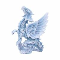 Nemesis Now Small Silver Dragon 11.5cm Age Of Dragons Anne Stokes Dragon Gift