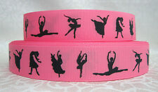 Ballet pink grosgrain ribbon hair bows key chains lanyards crafts FREE SHIP