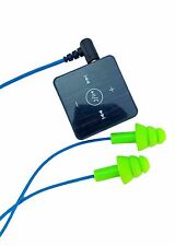 Bluetooth Workinbuds Green/Blue - Earplug Earphones With Wireless Adapter Bundle