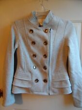 Selby Gray Jacket Womens M Zip and Button Closure