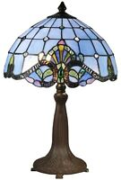 18.5 in. Dale Tiffany TT15090 Antique Bronze Verde Table Lamp with Hand Rolled A