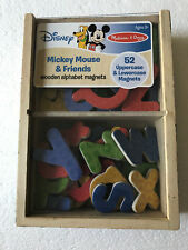 Melissa & Doug Disney Mickey Mouse Friends Wooden Toy Letter Magnets 52 Pieces