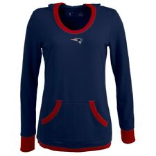 New England Patriots Women's Vibe Navy Hooded Sweatshirt (L)